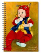 A Kid Wearing Two Cultural Traditions Spiral Notebook
