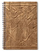A King Carved In Wood Spiral Notebook