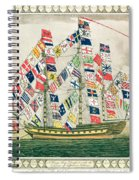 A King S Ship Dressed With The Colours Of Different Nations 6th October 1794 Spiral Notebook
