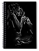 A Kiss In The Dark Spiral Notebook