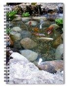 A Koi Pond For Outdoor Garden Spiral Notebook