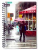 A La Turka In The Rain - Restaurants Of New York Spiral Notebook