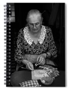 A Lacemaker In Bruges Spiral Notebook