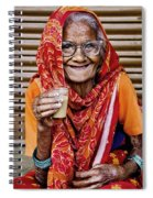 A Lady And Her Chai II Spiral Notebook