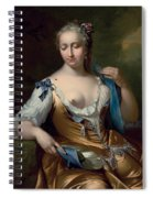 A Lady In A Landscape With A Fly On Her Shoulder Spiral Notebook