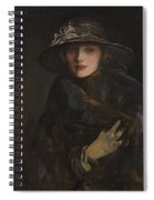 A Lady In Brown Spiral Notebook