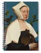 A Lady With A Squirrel And A Starling Spiral Notebook