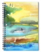 A Lagoon In Spain Spiral Notebook