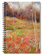 A Landscape In Spring With A Nun Spiral Notebook