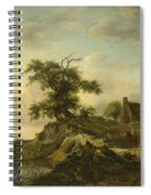 A Landscape With A Farm On The Bank Of A River Spiral Notebook