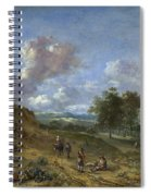 A Landscape With A High Dune And Peasants On A Road Spiral Notebook