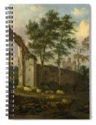 A Landscape With A Ruined Archway Spiral Notebook