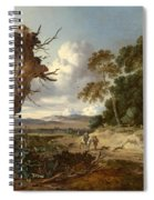 A Landscape With Two Dead Trees Spiral Notebook