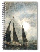 A Light Through The Storm - Sailing Spiral Notebook