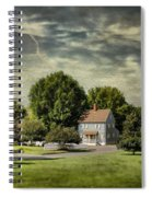A Little Blue House Spiral Notebook