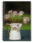 A Little Jug Of Crow Garlic Spiral Notebook