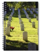 A Lone Remembrance Spiral Notebook