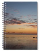 A Long Line Of Canada Geese At Sunrise Spiral Notebook