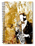 A Love For Sax Spiral Notebook