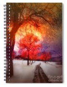A Magic Winter Spiral Notebook