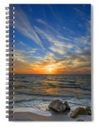 A Majestic Sunset At The Port Spiral Notebook