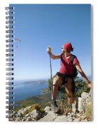 A Male Climber Looking At Paragliding Spiral Notebook