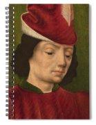 A Male Figure Perhaps Saint Sebastian A Spiral Notebook