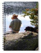 A Man And His Dog Spiral Notebook