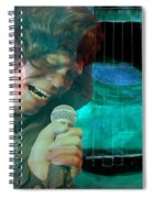A Man And His Music - James Brown Featured In 'abc Group' And Comfortable Art Group Spiral Notebook