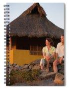 A Man And Woman Enjoy Sunset Spiral Notebook