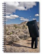 A Man Looks Into The Distance Spiral Notebook