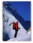 A Man Mountaineering In The Alps Spiral Notebook