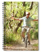 A Man Rides A Bicycle Spiral Notebook