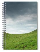 A Man Sitting On Top Of A Tundra Ridge Spiral Notebook
