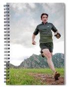 A Man Trail Runs Along The Spring Brook Spiral Notebook