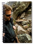 A Man Wearing A Backpack Hikes Spiral Notebook