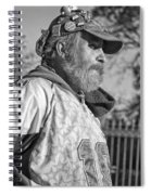 A Man With A Purpose Monochrome Spiral Notebook