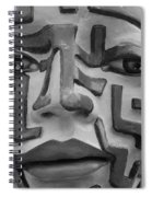 A Maze Ing Face Black And White Spiral Notebook