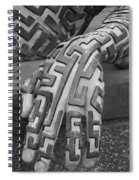 A Maze Ing Hand Black And White Spiral Notebook