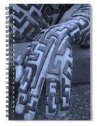 A Maze Ing Hand Cyan Spiral Notebook