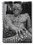 A Maze Ing Man 1 Black And White Spiral Notebook
