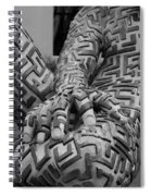 A Maze Ing Man 4 Black And White Spiral Notebook