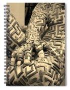 A Maze Ing Man 4 Sepia Spiral Notebook