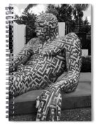 A Maze Ing Man 5 Black And White Spiral Notebook