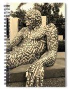 A Maze Ing Man 5 Sepia Spiral Notebook