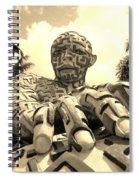 A Maze Ing Man 6 Sepia Spiral Notebook