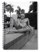 A Maze Ing Man Black And White Spiral Notebook