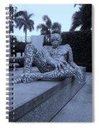 A Maze Ing Man Cyan Spiral Notebook