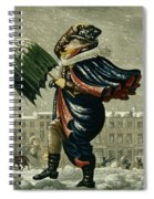 A Merry Christmas And A Happy New Year Spiral Notebook