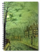 A Moonlit Road Spiral Notebook